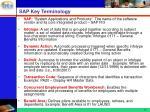 sap key terminology