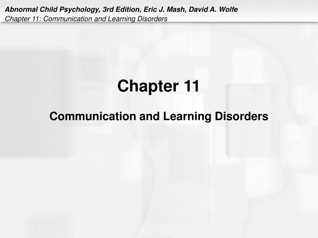 chapter 11 communication and learning disorders l.