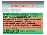 computer power vs human intellect