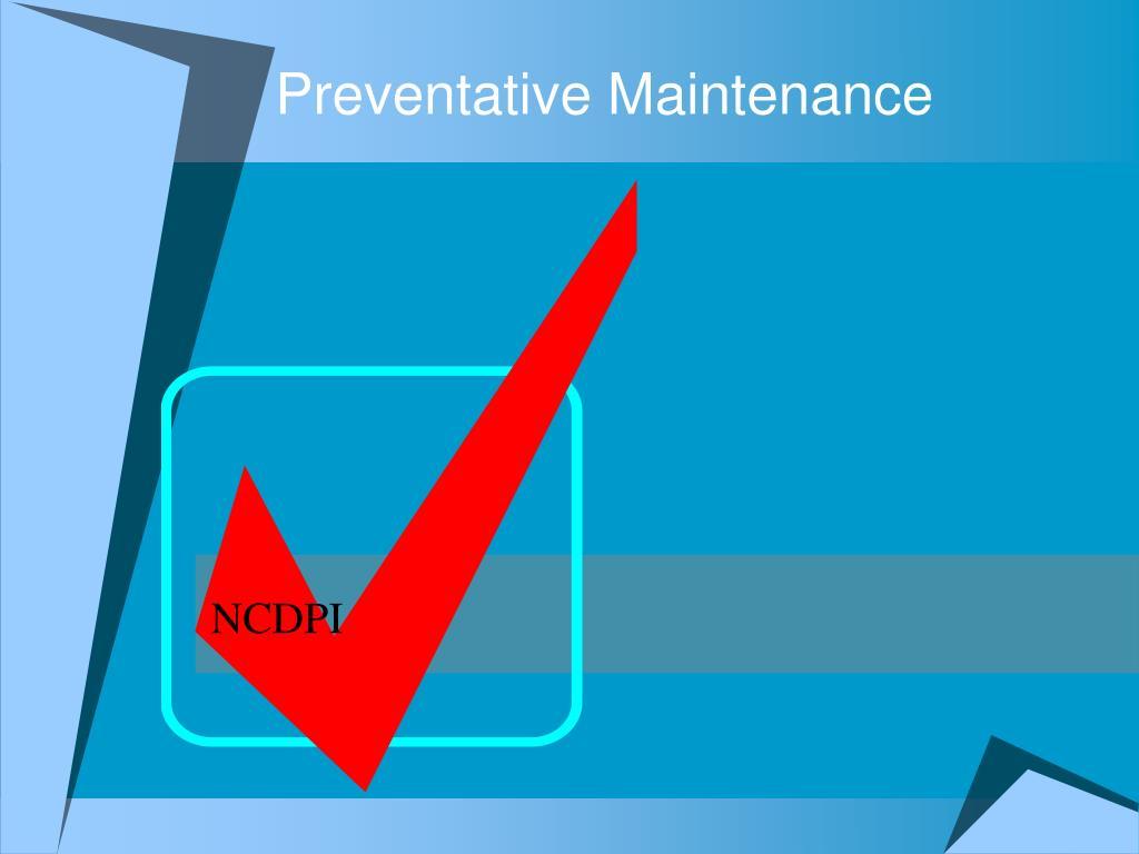 preventative maintenance l.