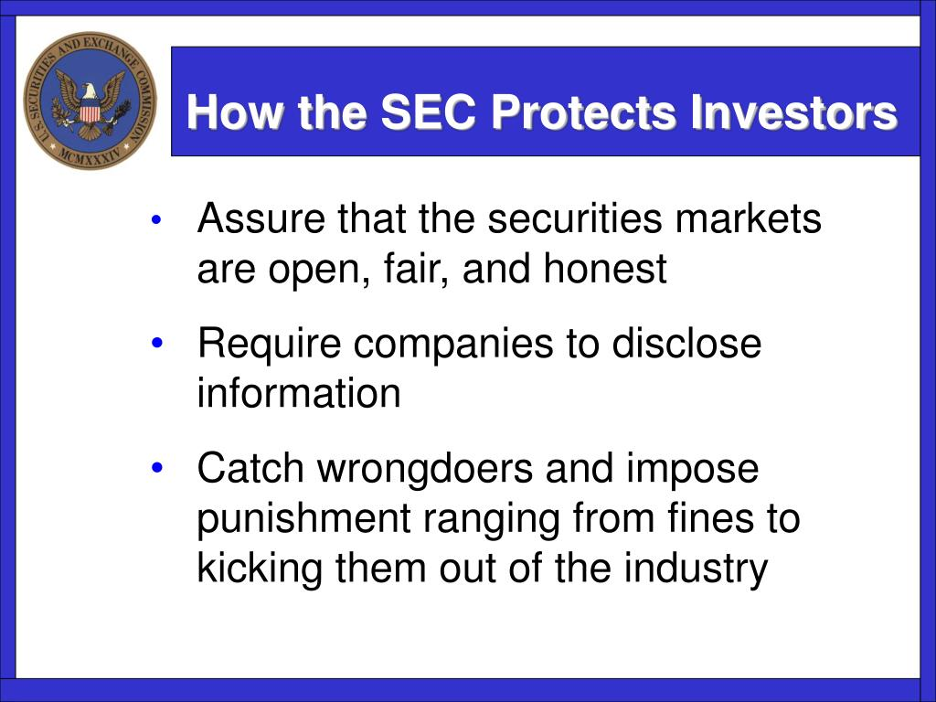How the SEC Protects Investors