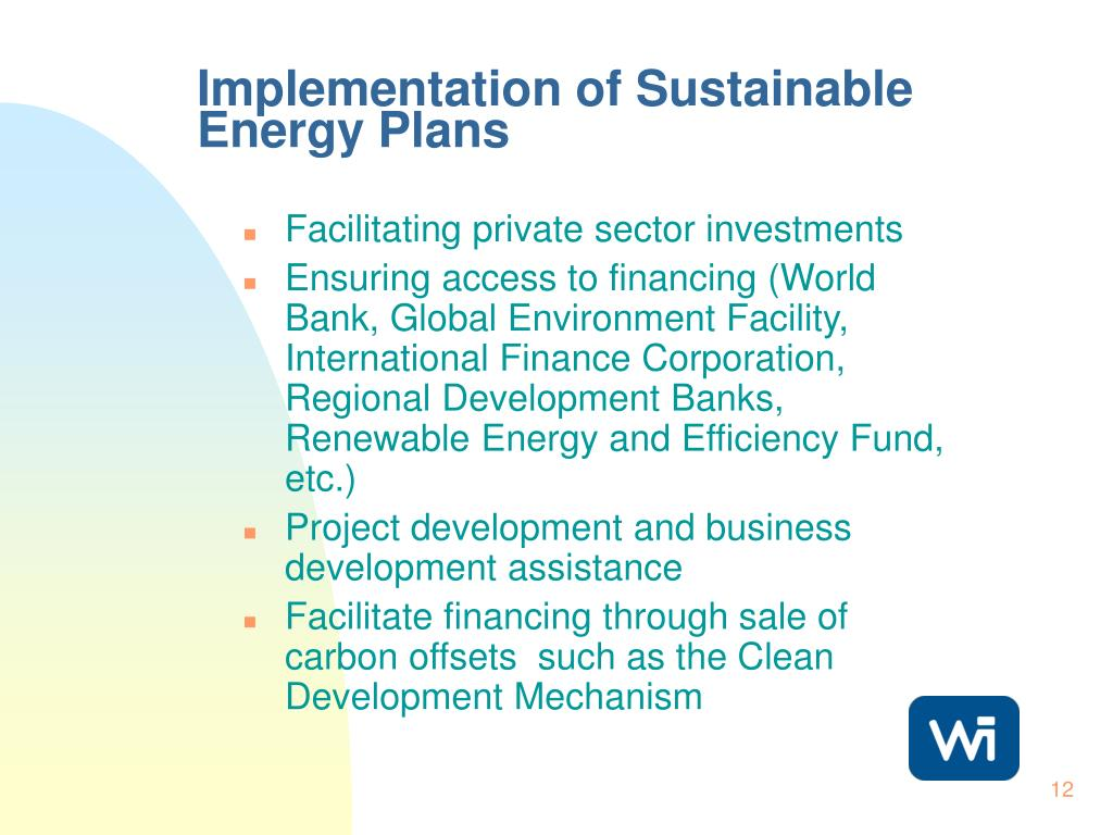 Implementation of Sustainable Energy Plans