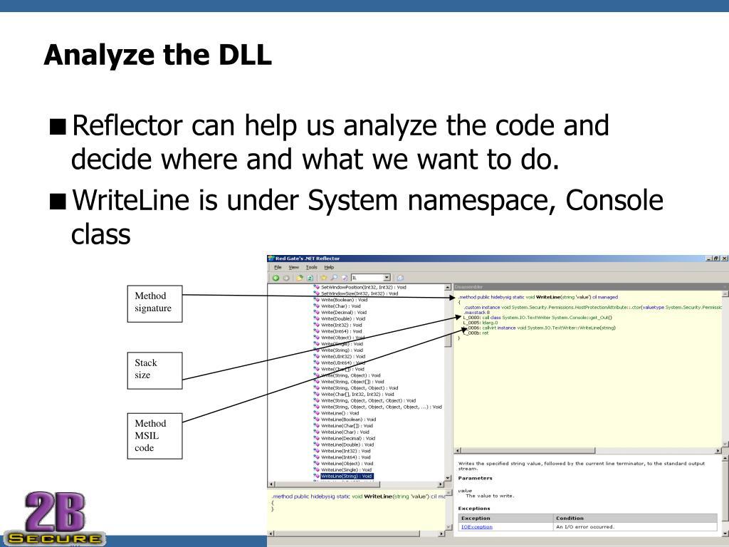 Analyze the DLL