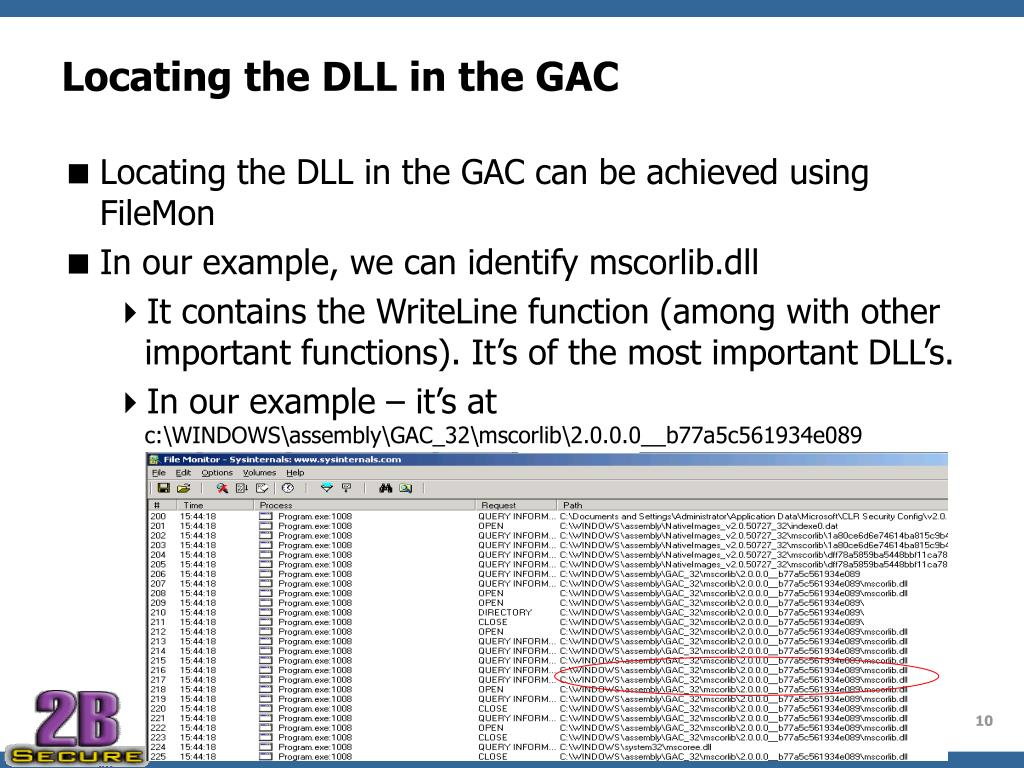Locating the DLL in the GAC