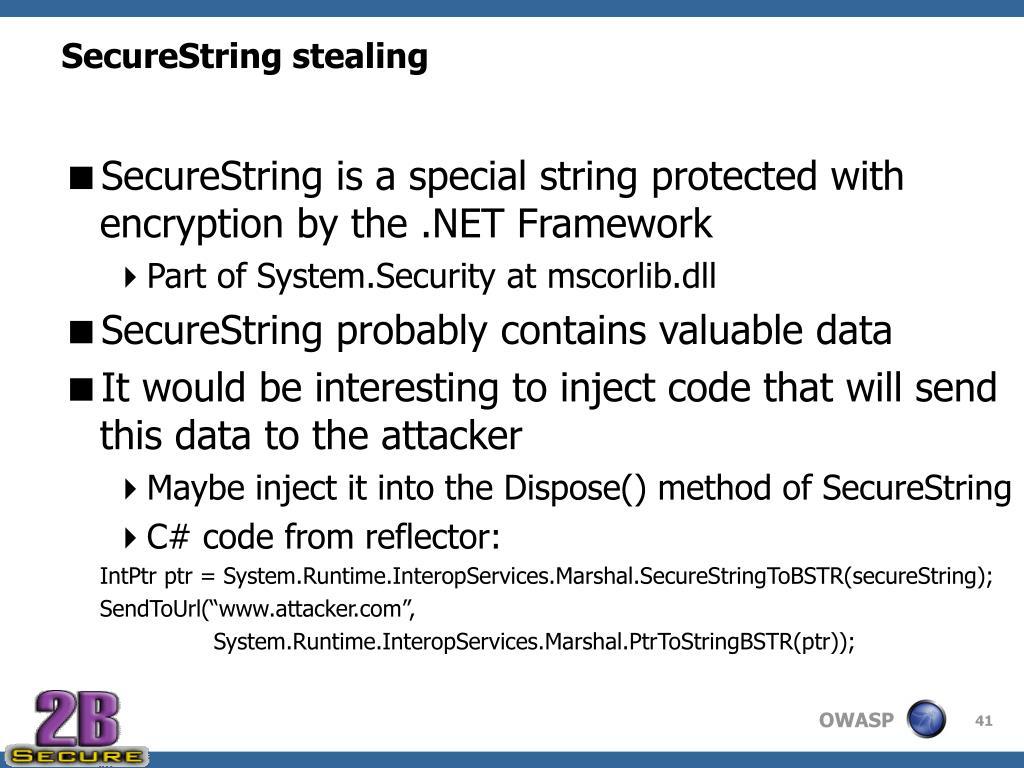 SecureString stealing