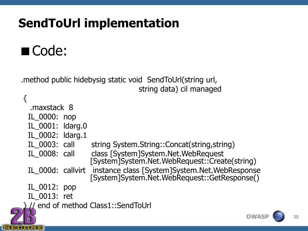 SendToUrl implementation