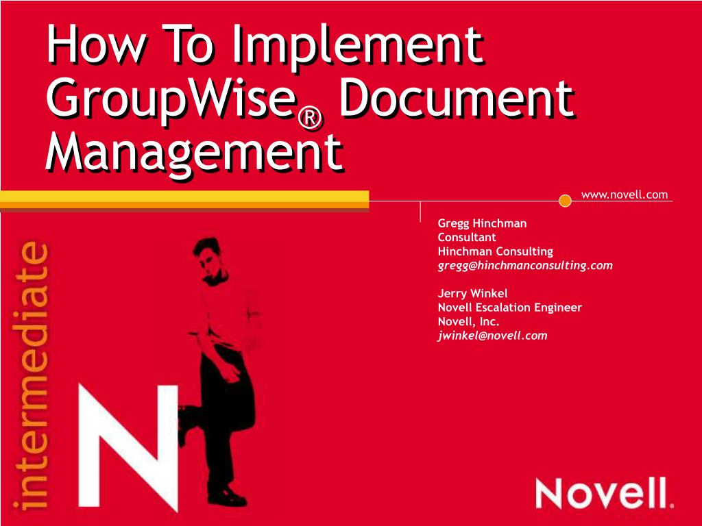 how to implement groupwise document management l.