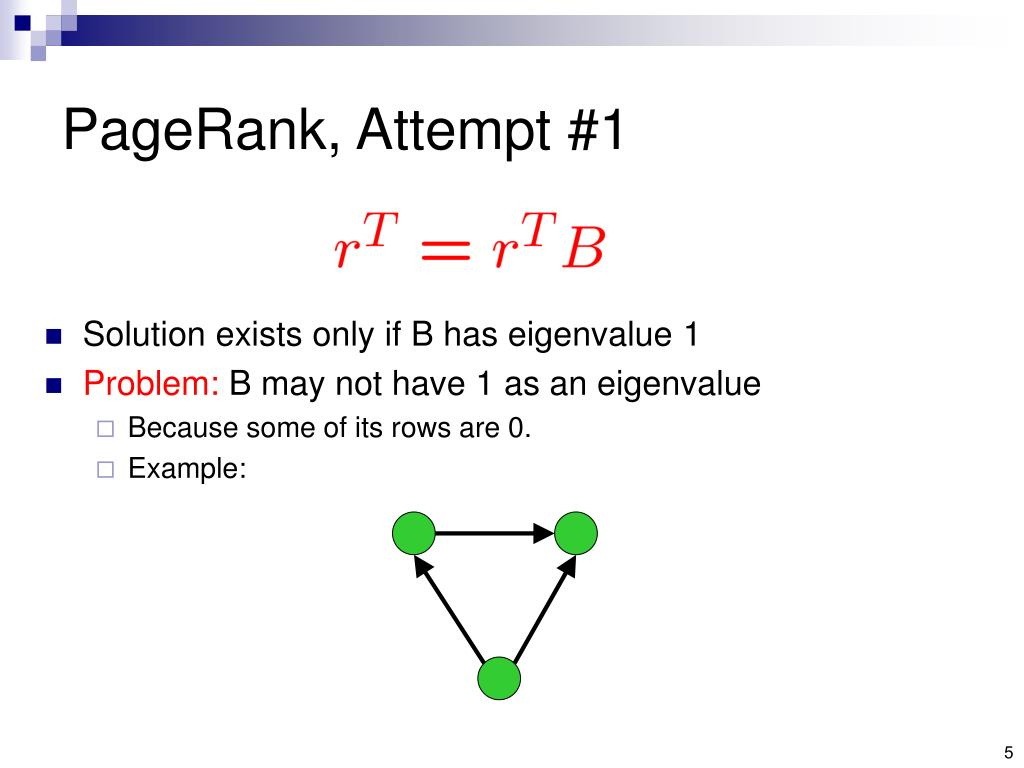PageRank, Attempt #1