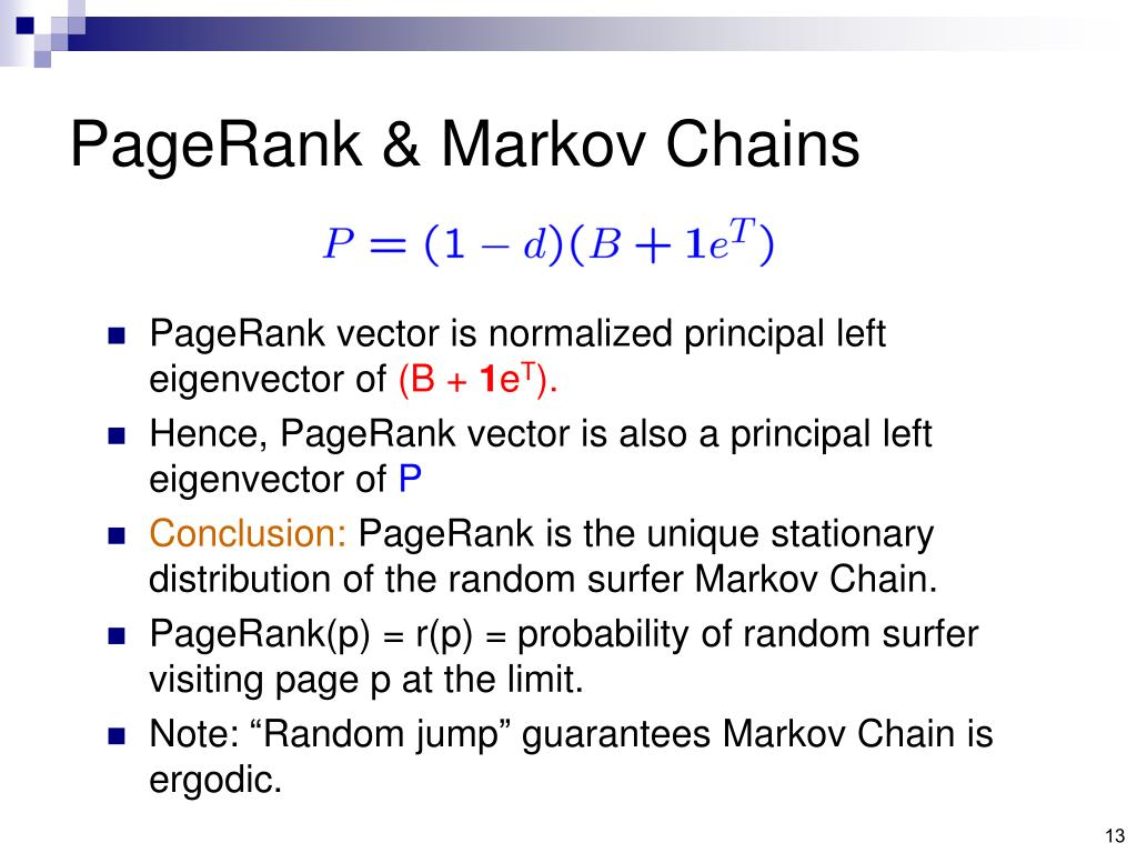 PageRank & Markov Chains