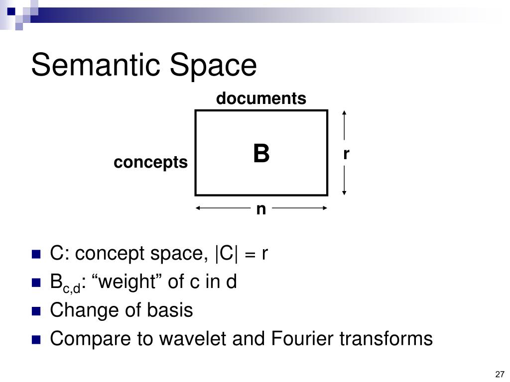 Semantic Space
