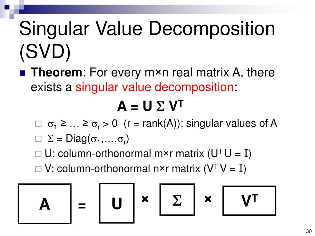 Singular Value Decomposition (SVD)