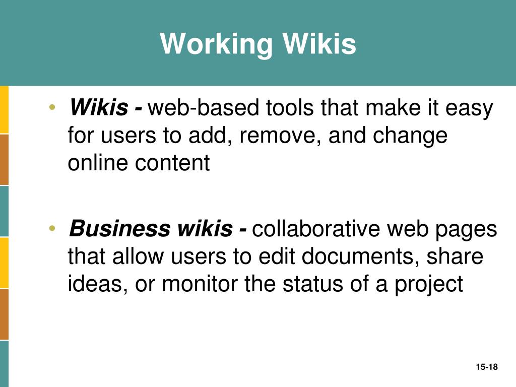 Working Wikis