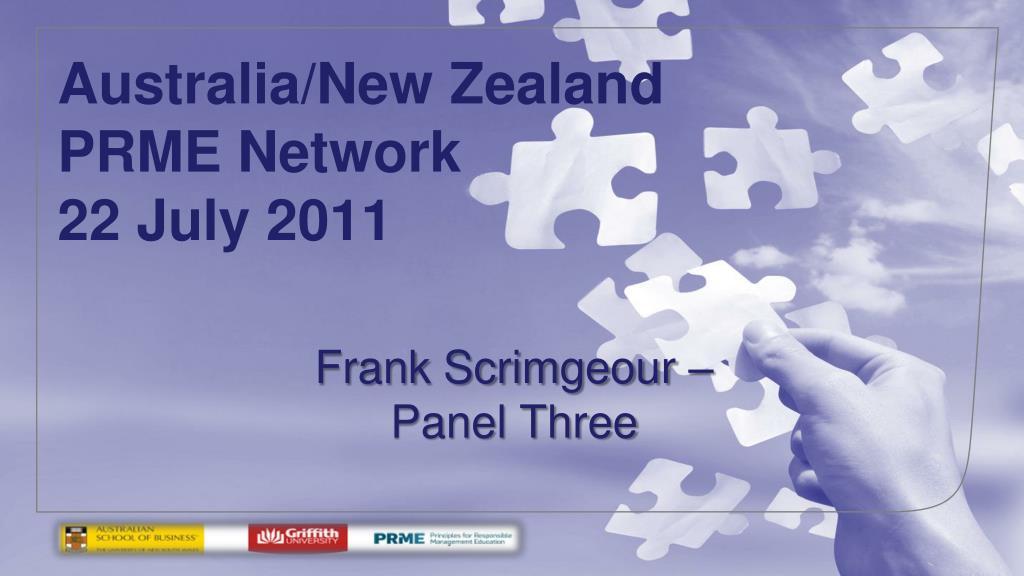 australia new zealand prme network 22 july 2011 l.