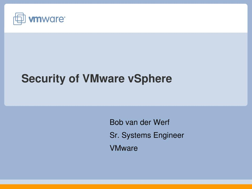 security of vmware vsphere l.