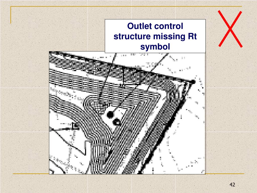Outlet control structure missing Rt symbol
