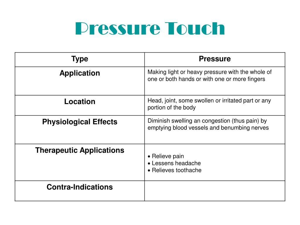 Pressure Touch
