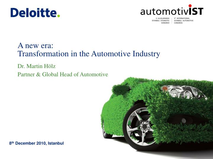 a new era transformation in the automotive industry n.