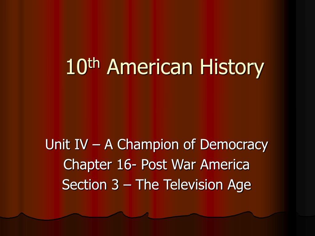 10 th american history l.