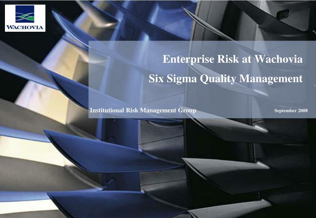 Enterprise Risk at Wachovia