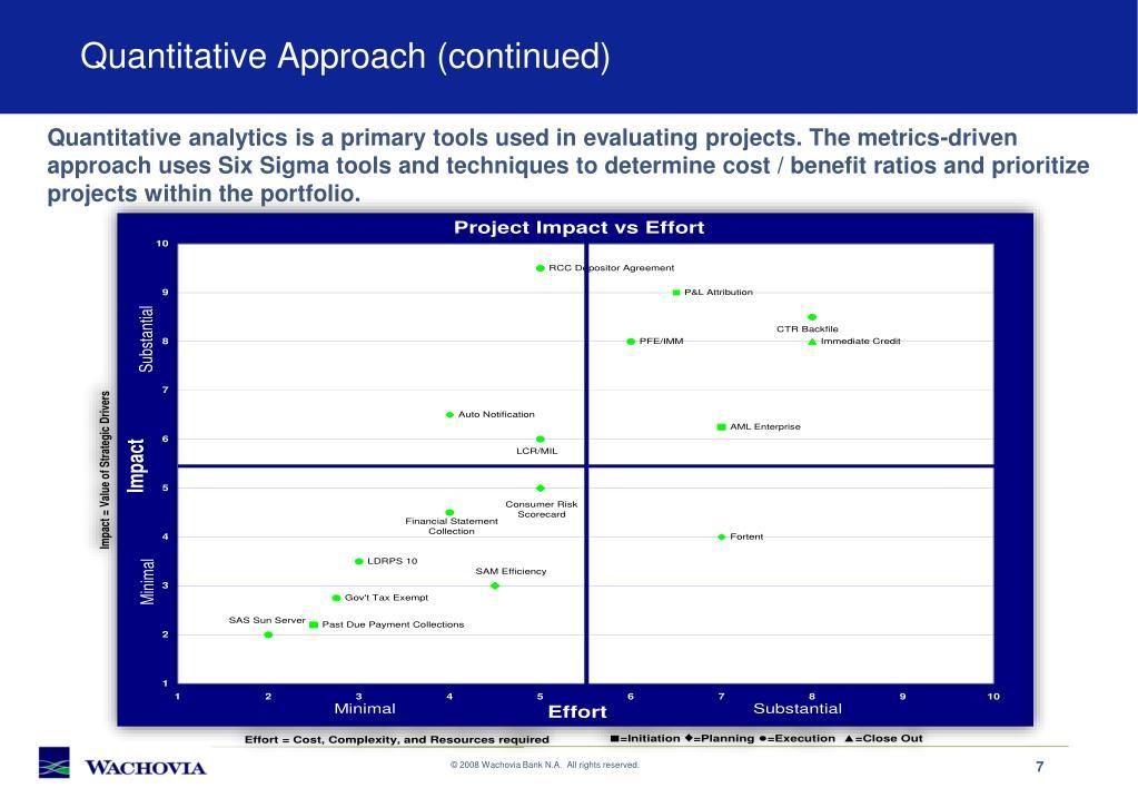 Quantitative Approach (continued)