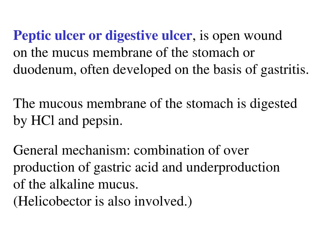 Peptic ulcer or digestive ulcer