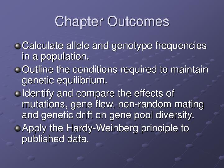 gene frequencies and the hardy weinberg principle essay The hardy-weinberg principle states that both allele and genotype frequencies in a population remain constant--that is, they are in equilibrium in the simplest case of a single locus with two alleles: the dominant allele is denoted a and the recessive a and their frequencies are denoted by p and q.
