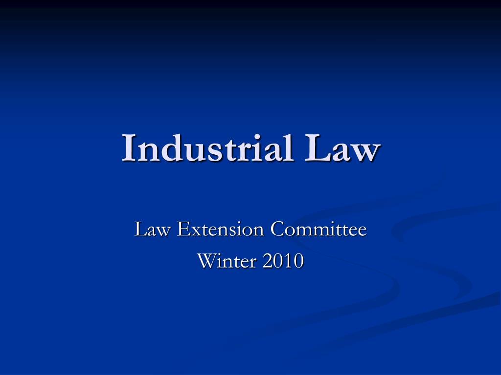industrial law l.