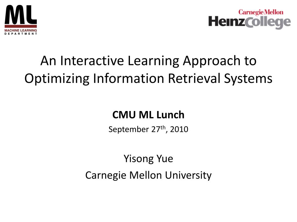 an interactive learning approach to optimizing information retrieval systems l.