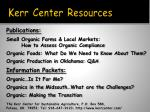 kerr center resources