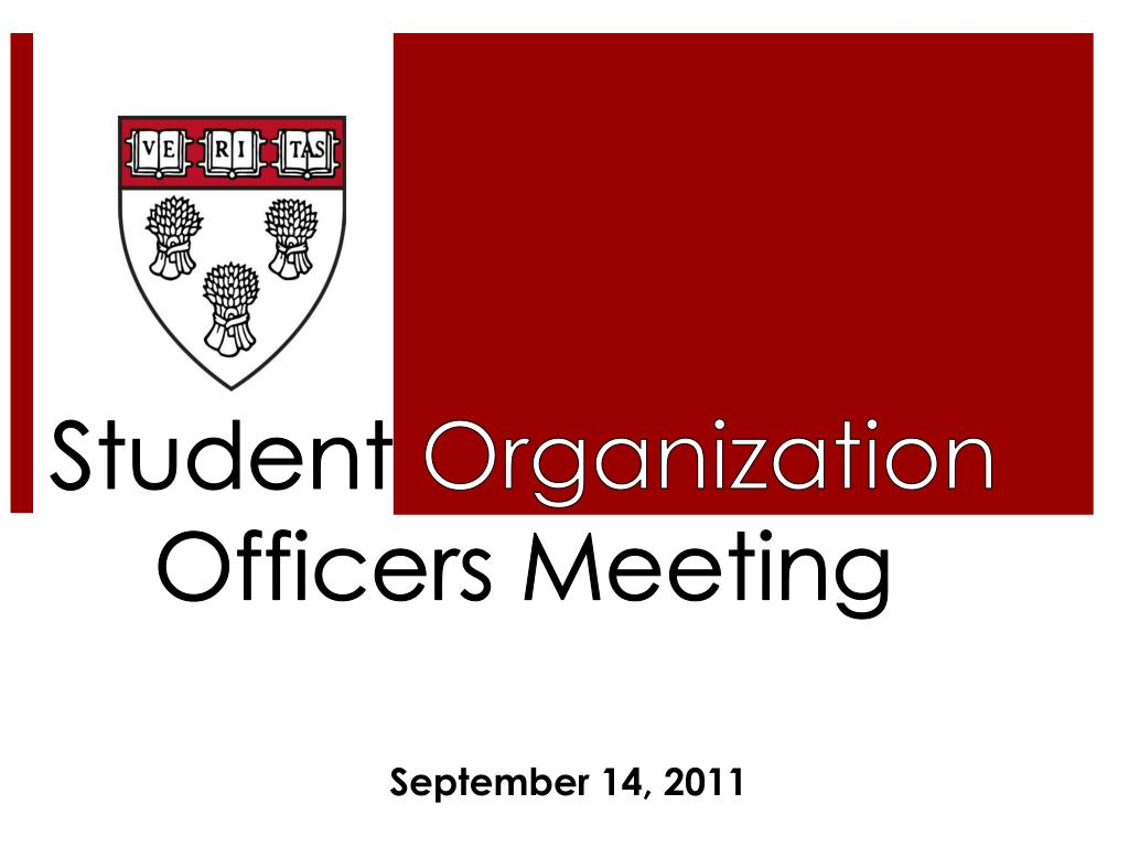 student organization officers meeting l.