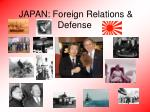japan foreign relations defense