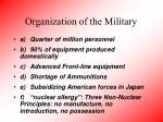 organization of the military