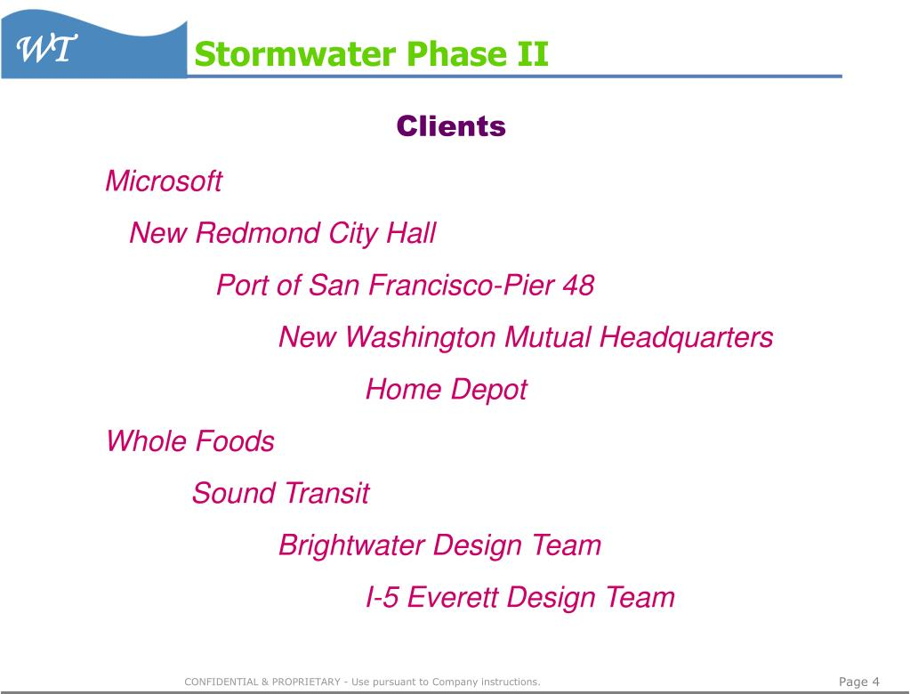 Stormwater Phase II