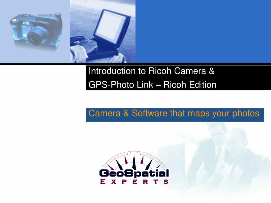 introduction to ricoh camera gps photo link ricoh edition l.