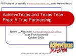 achievetexas and texas tech prep a true partnership
