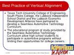 best practice of vertical alignment