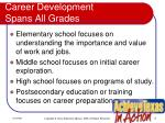 career development spans all grades