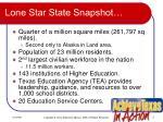 lone star state snapshot