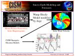 sun to earth modeling and forecasts