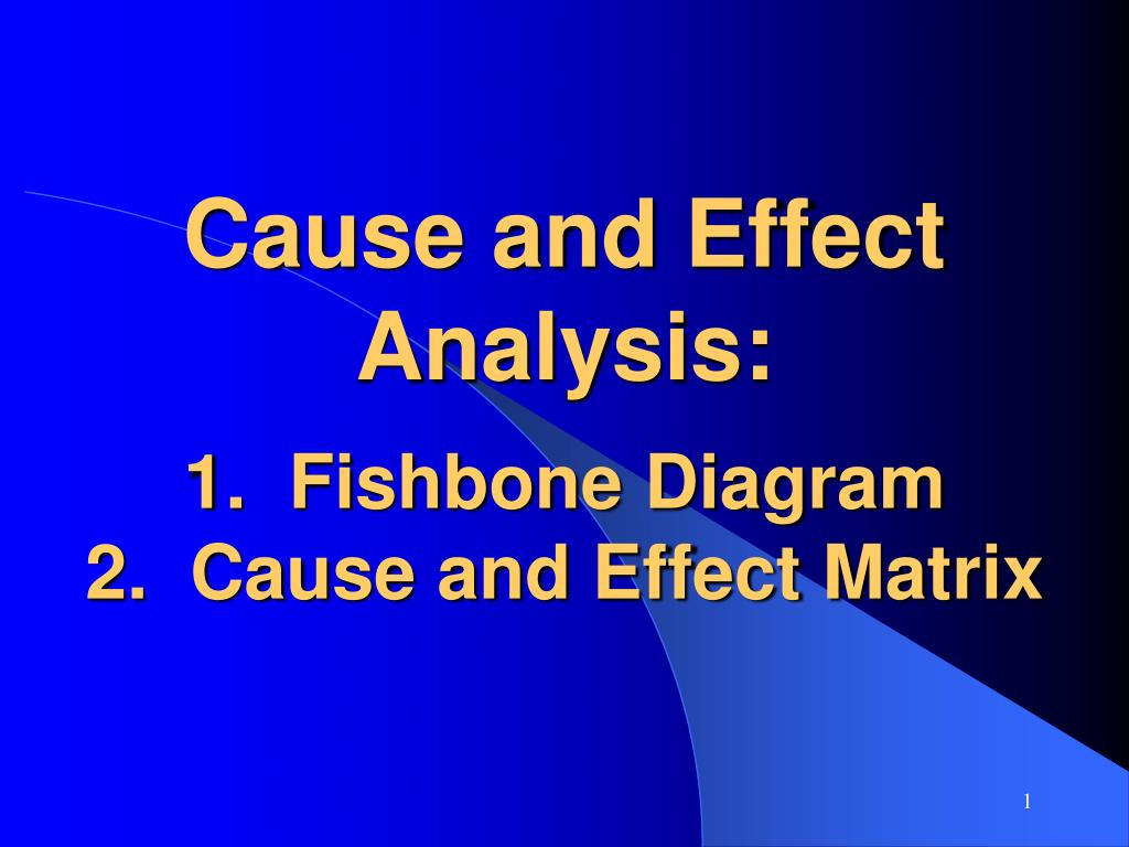 an analysis of the topic of the cause and effects assignment Analysis & problem solving - assignment note: this assignment may be submitted either in hard copy form in person in our week 7 class session, or in file copy online in the assignments section on blackboard.