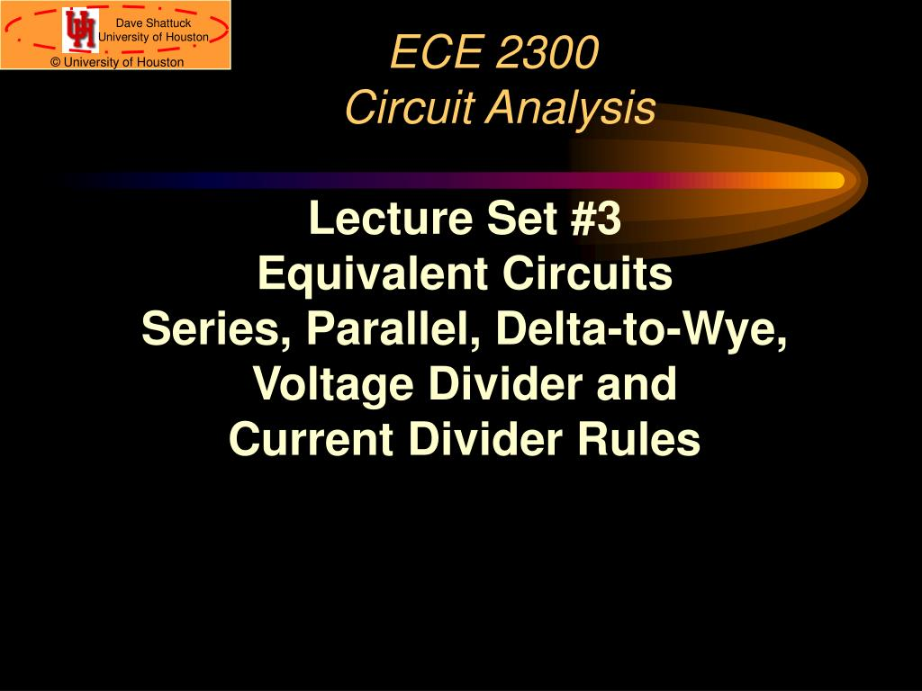 Ppt Ece 2300 Circuit Analysis Powerpoint Presentation Id578659 Kirchhoff39s Voltage Law Kvl Divider Circuits And Laws L