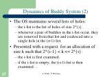 dynamics of buddy system 2