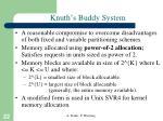 knuth s buddy system