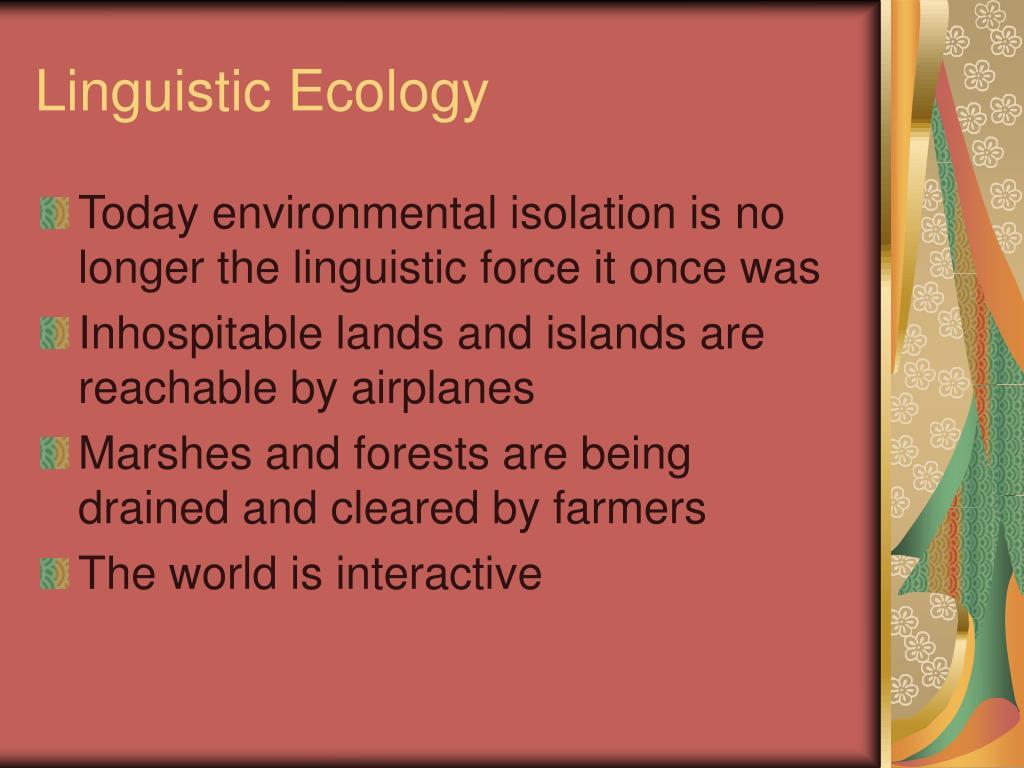 linguistic ecology l.