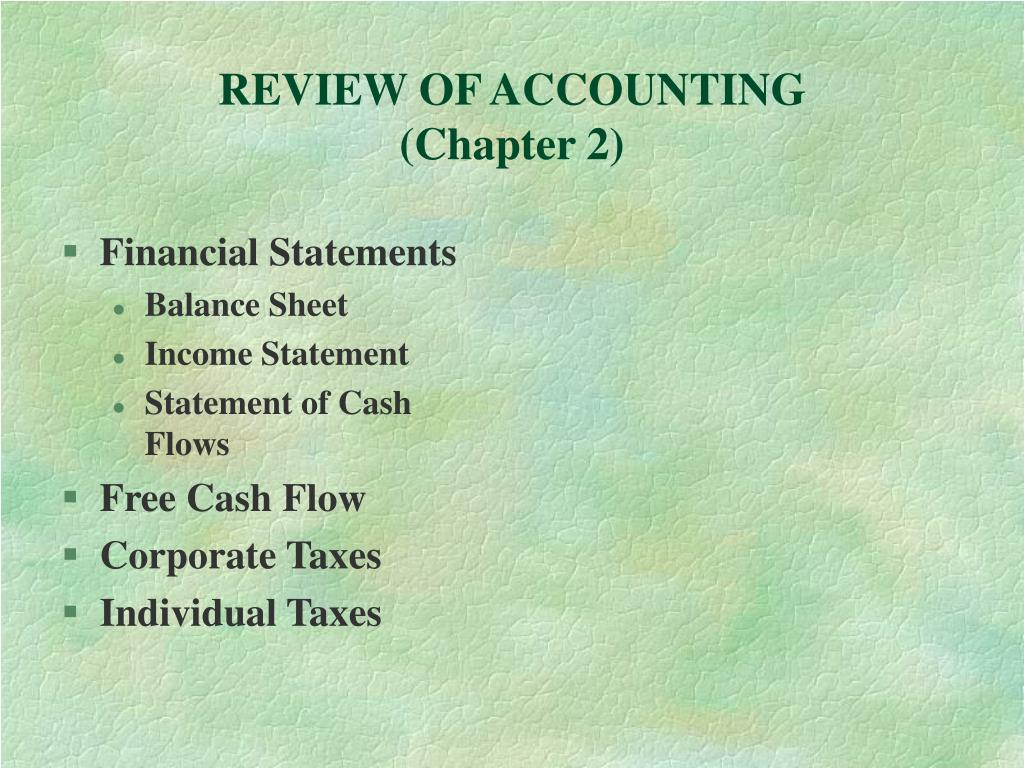 review of accounting chapter 2 l.