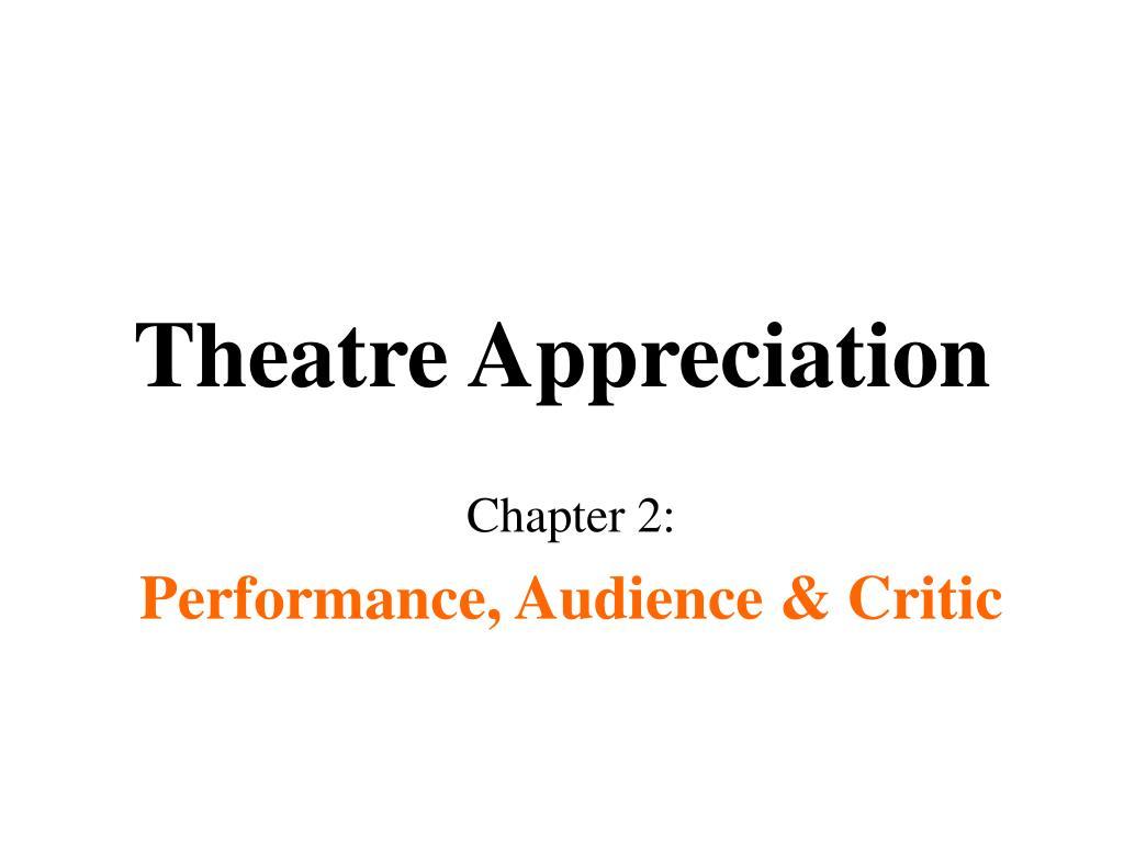 theatre appreciation l.
