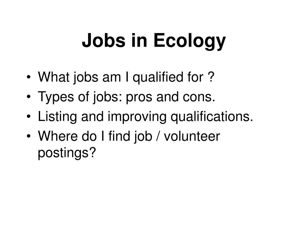 jobs in ecology l.