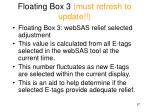 floating box 3 must refresh to update