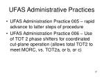 ufas administrative practices27