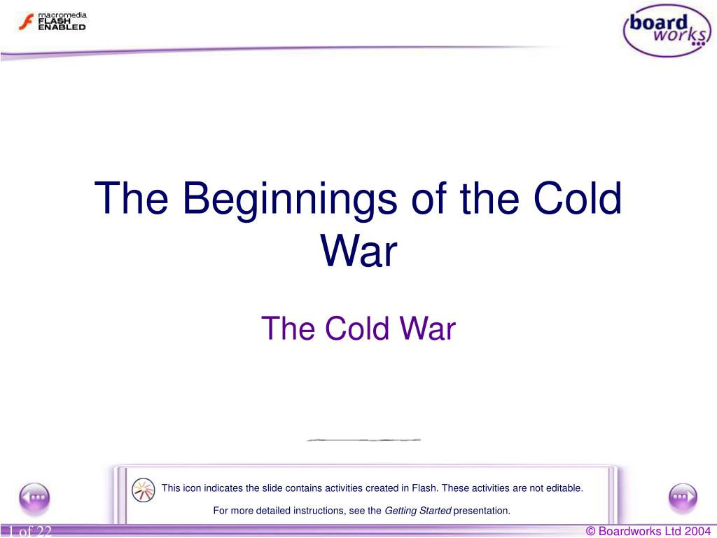 the beginnings of the cold war l.